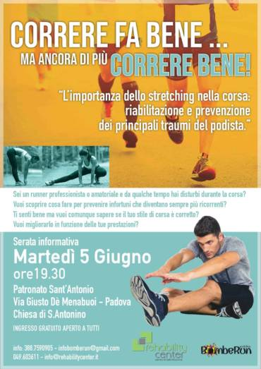 "Evento ""L'importanza dello stretching nella corsa"""